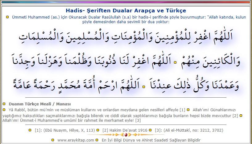 mmeti Muhammed (a.s) için Okunacak Dua