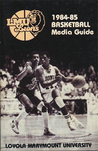 Loyola LMU Lions Basketball _RARE_ 1984-85 Media Guide ...